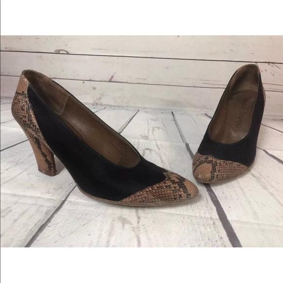 fb9275438d Charles Jourdan Shoes   Vintage France Wingtip Heels Pumps Leather ...